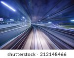 monorail motion blur on the... | Shutterstock . vector #212148466