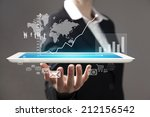 technology in the hands of... | Shutterstock . vector #212156542