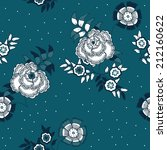 vector seamless  pattern with ... | Shutterstock .eps vector #212160622