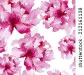 floral pattern. watercolor... | Shutterstock . vector #212161138