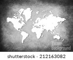 grunge map of the world   vector | Shutterstock .eps vector #212163082