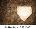 Home Plate On Baseball Field...