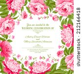 card of color flowers and text... | Shutterstock .eps vector #212166418