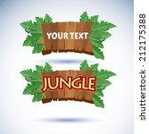 jungle wood sign vector   Shutterstock .eps vector #212175388