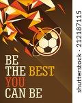 abstract football poster design ...   Shutterstock .eps vector #212187115
