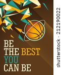 abstract basketball poster in... | Shutterstock .eps vector #212190022