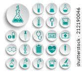 set of science icons | Shutterstock .eps vector #212190046