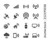 wireless technology icon set ... | Shutterstock .eps vector #212195038