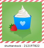 adorable,background,berry,blue,border,cold,cream,creamy,cup,cute,dairy,delicious,dessert,fancy,fit
