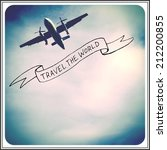 inspirational  quote   airplane | Shutterstock . vector #212200855