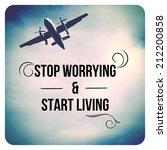 inspirational typographic quote ... | Shutterstock . vector #212200858