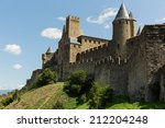 view of carcassonne fortress | Shutterstock . vector #212204248