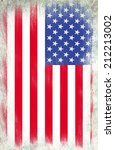grunge flag of usa | Shutterstock . vector #212213002