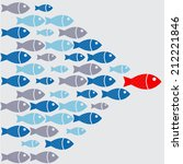 leadership fish graphic | Shutterstock .eps vector #212221846