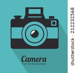 camera design over blue... | Shutterstock .eps vector #212232568