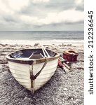 Small Old Fishing Boat On A...