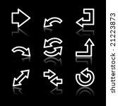 white contour arrows web icons | Shutterstock .eps vector #21223873