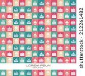 bakery desing over pattern... | Shutterstock .eps vector #212261482