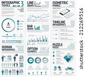 business vector elements for... | Shutterstock .eps vector #212269516