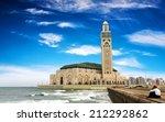 the hassan ii mosque in... | Shutterstock . vector #212292862