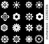 flower vector black and white. | Shutterstock . vector #212302306
