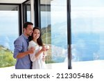 romantic happy young couple... | Shutterstock . vector #212305486