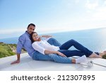 romantic happy young couple... | Shutterstock . vector #212307895