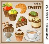 set of sweets. vector... | Shutterstock .eps vector #212311765