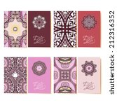 collection of ornamental floral ... | Shutterstock . vector #212316352
