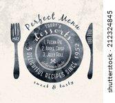 label for restaurant and cafe  | Shutterstock .eps vector #212324845