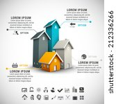 real estate infographic made of ... | Shutterstock .eps vector #212336266