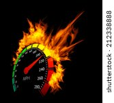 Burning Vector Speedometer Fir...