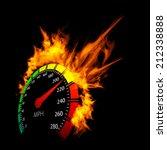 burning vector speedometer fire ... | Shutterstock .eps vector #212338888