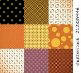 set of 9 different colorful... | Shutterstock . vector #212339446