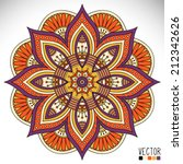 mandala. round ornament pattern.... | Shutterstock .eps vector #212342626