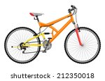 two suspension mountain bike  ... | Shutterstock .eps vector #212350018