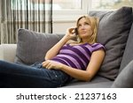 woman talking on her cell phone ... | Shutterstock . vector #21237163