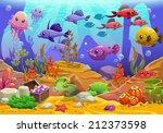 underwater world  cartoon...