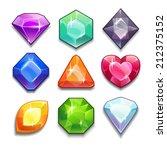 cartoon vector gems and... | Shutterstock .eps vector #212375152
