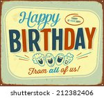 vintage metal sign   happy... | Shutterstock .eps vector #212382406