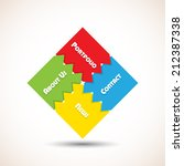 puzzle navigation | Shutterstock .eps vector #212387338