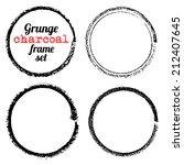 set of four grunge circle... | Shutterstock .eps vector #212407645