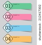 modern label text box template... | Shutterstock .eps vector #212417302