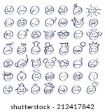 Hand Drawn Emoticon Set