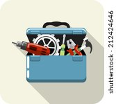 vector toolbox with tools | Shutterstock .eps vector #212424646