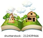 illustration of a popup book of ...   Shutterstock .eps vector #212439466