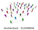 business human social network... | Shutterstock . vector #212448046