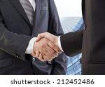business handshake  the deal is ... | Shutterstock . vector #212452486