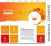 flat website design  autumn...
