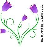 purple tulips vector | Shutterstock .eps vector #212463802